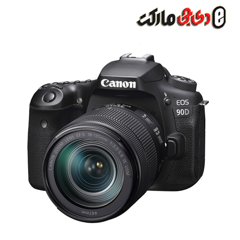 دوربین کانن مدل Canon EOS 90D DSLR Camera with 18-135mm Lens